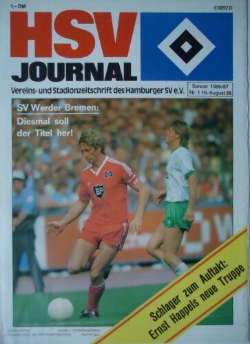 Werder Bremen Programm 1986//87 HSV Hamburger SV