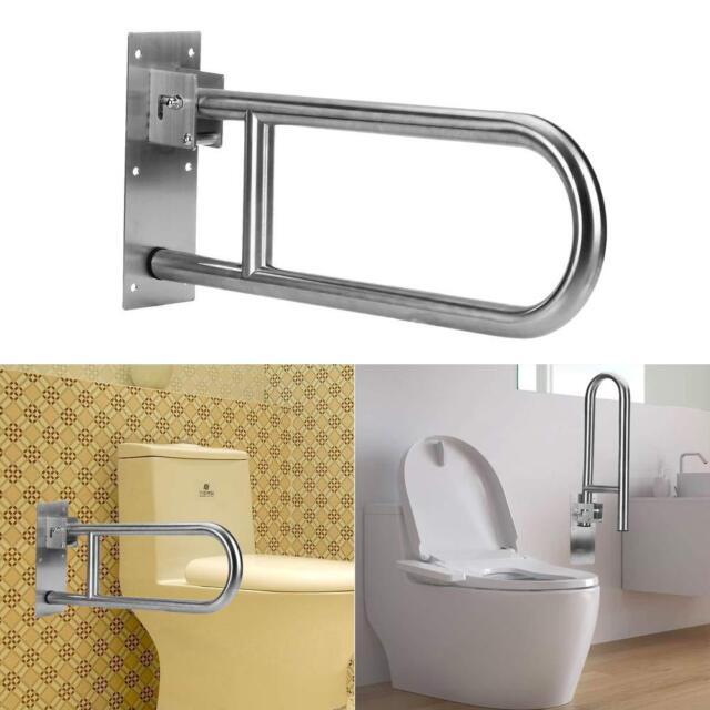 Folding Handicap Grab Bars Rails Toilet Handrails Bathroom Support Safety Rail For Sale Online Ebay