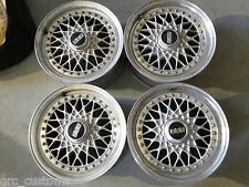 VW GOLF MK1 MK2 MK3 BBS RS043 3 PIECE SPLIT RIMS ALLOY WHEELS 5x114 15x6.5J ET36