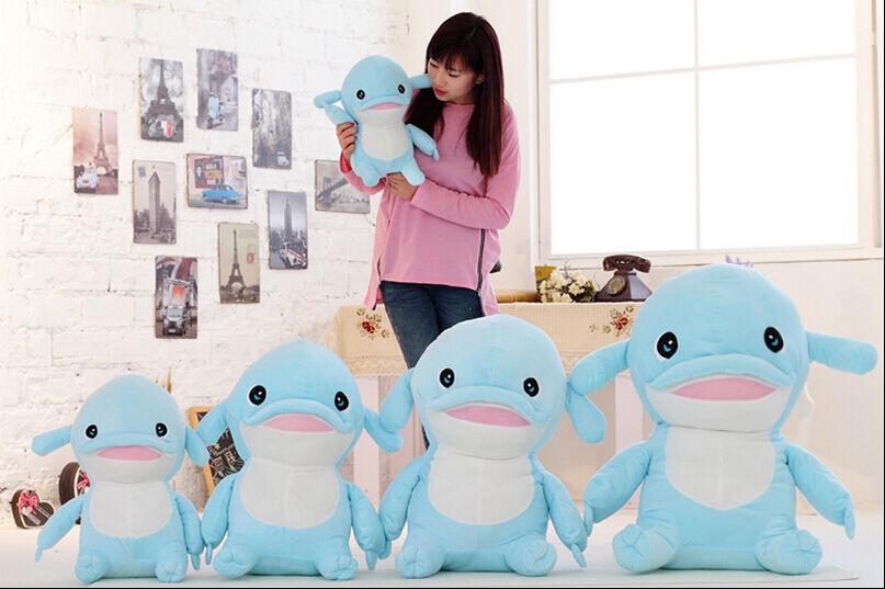 Süß dolphin stofftiers umuhug großes tier ausgestopfte puppe xmas kind geburtstagsgeschenk neue