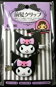 SANRIO-Kuromi-hair-clip-accessory-relief-item-2-pieces-set