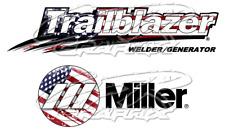 Usa Flag Miller Welder Trailblazer Glossy Decal Sticker Set Of 4 Decals