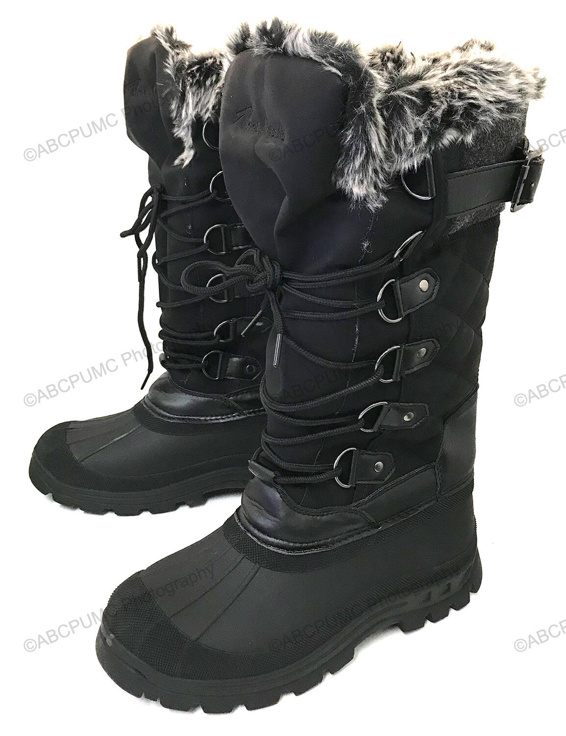 New Womens Winter Boots Fur Water Resistant Warm Insulated Zipper Ski Snow Shoes