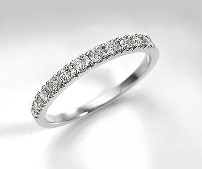 Lab Diamond Wedding Engagement Ring Band Guard 14K, 18K White Gold Rose & Yellow