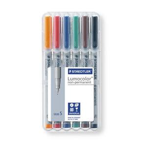 STAEDTLER Lumocolor NonPermanent Marker 311S 6er Etui