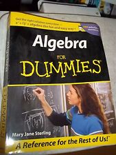 ALGEBRA FOR DUMMIES MARY JANE STERLING 2001 MATH SC BOOK MANUAL 358 PAGES