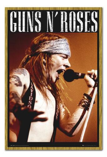 Gerahmt Guns /& Rosen Axel Rose Poster Neu