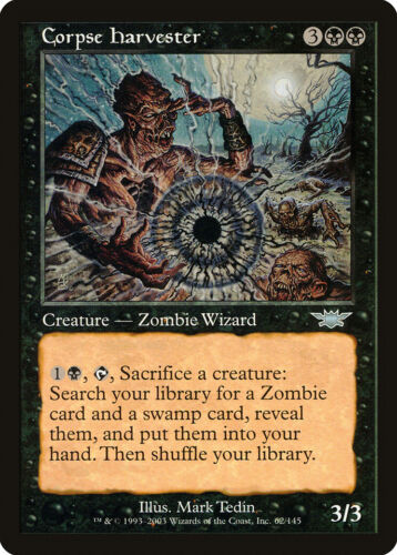 Corpse Harvester Legions NM-M Black Uncommon MAGIC THE GATHERING CARD ABUGames