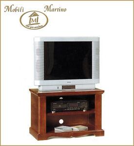 Dettagli su Porta tv arte povera mobile televisore classico soggiorno  portatv carrello