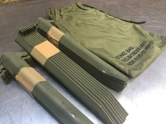 """Military Tent Stakes Antenna Tower Mast Camping Aluminum 12/"""" W// BAG LOT of 12"""