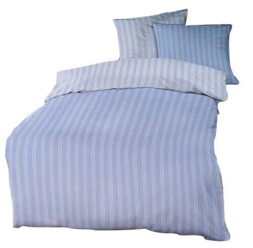 Schlafgut Mako-satin linge de lit set 135 x 200 cm Jena Design Bleu Clair//Blanc