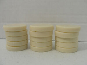 """Backgammon Replacement Checker Chip 1 1//4/"""" Brown /& Ivory//Cream Game Pieces"""