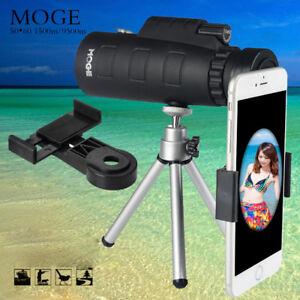 Monocular-50X60-Zoom-Optical-HD-Lens-Telescope-Tripod-Clip-For-iPhone-Samsung