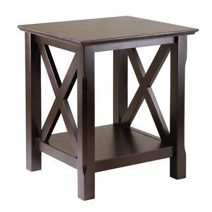 Wood Modern End Table Dark Brown Traditional Espresso