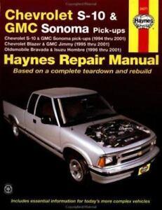 haynes automotive repair manual chevrolet s 10 and gmc sonoma pick rh ebay com 2002 gmc sonoma manual transmission fluid 2002 GMC Sonoma Radio Factory