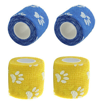 Vet Wound Self Adherent Cohesive Wrap Bandages First Aid Tape Color Random