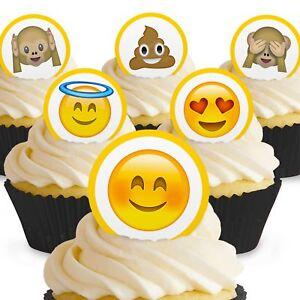 Cakeshop 24 X Essbare Emoji Kuchen Dekoration Ebay