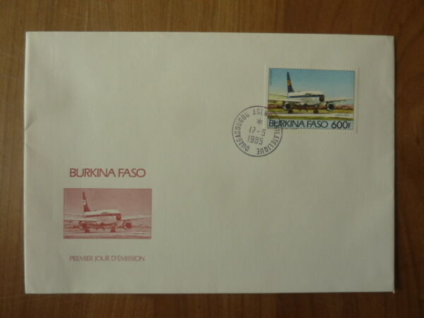 Fdc Burkina Faso 1985 Avion Lufthansa Airbus A 300 B-unique Marque Magasin En Ligne
