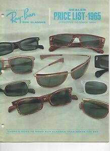 9bba61cecc CD of digital images Vintage Ray Ban DEALER LIST 1965 Sunglasses ...