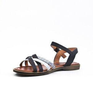 52fe0384bc22 sandales chaussures noires argentées plates été pointure 36 37 38 39 ...
