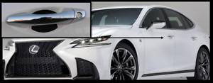 Carbon Fiber Car Door Handle Scratch Protector Guard Trim Fits Lexus LS New 4 Pk