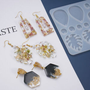 8 Styles Earrings Jewelry Epoxy Resin Molds Set Silicone Mold Casting Tools Diy Ebay