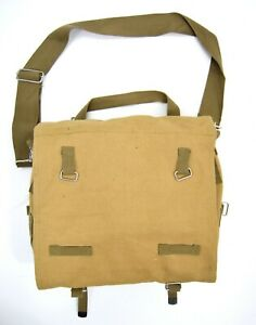 Vintage-US-Army-Style-Messenger-Bag-Canvas-Satchel-Side-Shoulder-Sack-WW2-Khaki