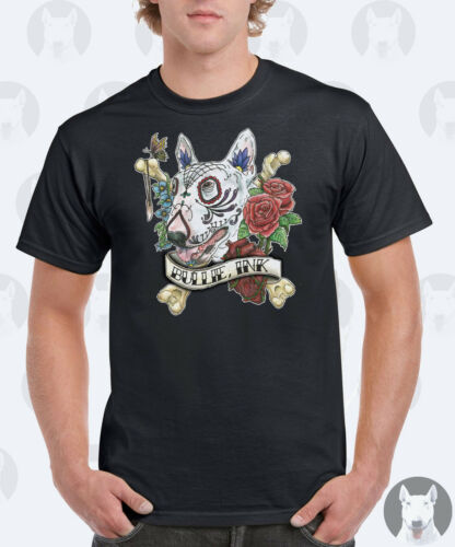 Bullie Ink Tattoo Bull Terrier Gift Mens English Bull Terrier T-Shirt