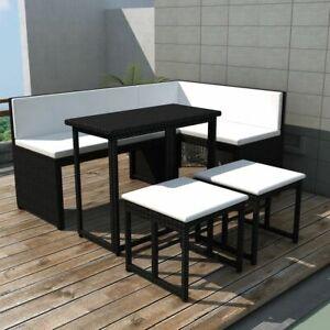 vidaXL Mobilier de Jardin Extérieur Poly Rotin 12 pcs Noir Salon de ...