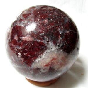 "Dolomite Magnesite Brucite Crystal Sphere 4"" Appaloosa Stone 100% Natural 4lbs +"