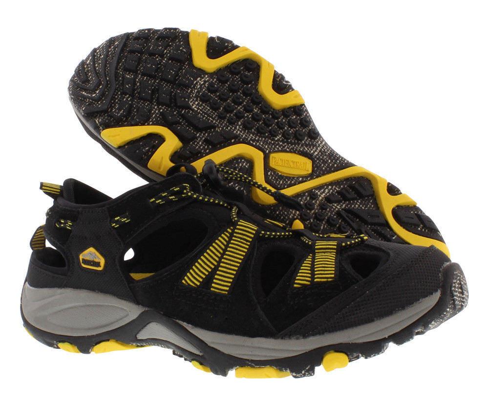 New men's Pacific Trail 12, Chaski All Terrain sandals, size 12, Trail black/gray/yellow 36f329