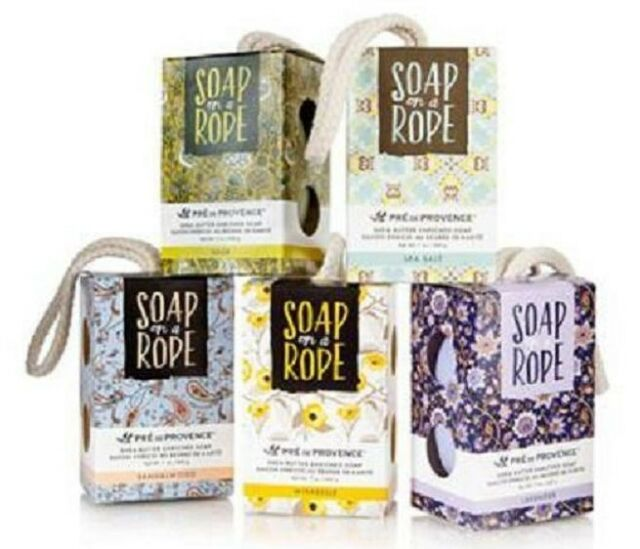 European Soaps SOAP ON A ROPE COLLECTION, Pre De Provence 7oz./200 g. You Choose