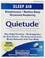 Boiron Quietude Natural Sleep Aid Sleeping Pills 60 Quick Dissolving Tablets