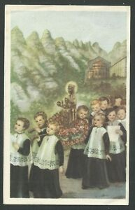 image pieuse ancianne de la Virgen de Montserrat estampa holy card santino GA8UFqVu-09100347-930589151