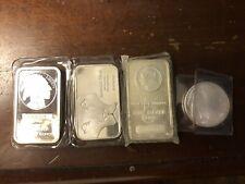 Ten 1oz .999 Pure Sterling Silver Bars w// American Flag