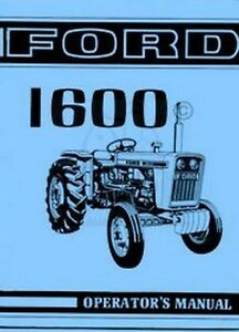 Ford-1600-Tractor-Owner-Operators-Instruction-Manual