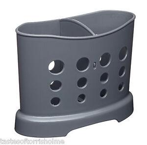 Kitchen-Craft-16CM-evier-range-couverts-Caddie-Double-Compartiment-separateur