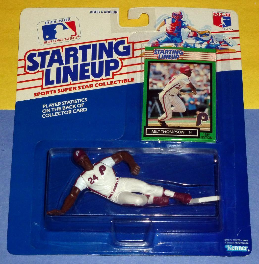 1989 MILT THOMPSON Philadelphia Phillies NM- Rookie 0 s h sole Starting Lineup