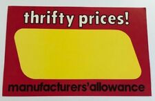 Thrifty Price Display Sale Price Signs 11 X 7 50 Pc Buy One Pack Get One Free