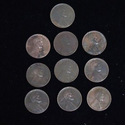 500 Lincoln Wheat Cent Penny Lot Mixed Dates Picked At Random