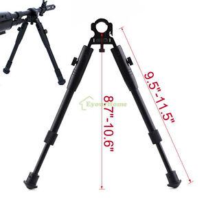 Universal Barrel Clamp Mount Adjustable Tactical Rifle Bipod F Hunting Shooting