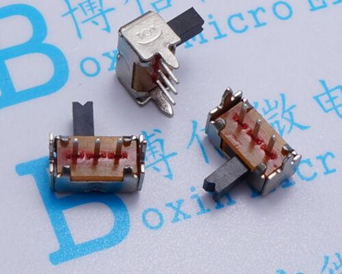 50 un./lot SK12D07 interruptor lado Dial dos lado SK12D07VG4 interruptor deslizante lateral