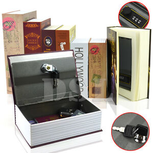 Details about M Holy Bible HomeSafe Real Book Safe Key Combination Metal  Security Money Box
