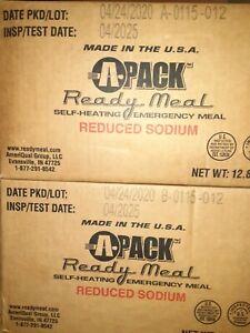 2 A-Pack Cases of MREs, 24 Meals 12 Varieties Test Date 04/2025 Read Description