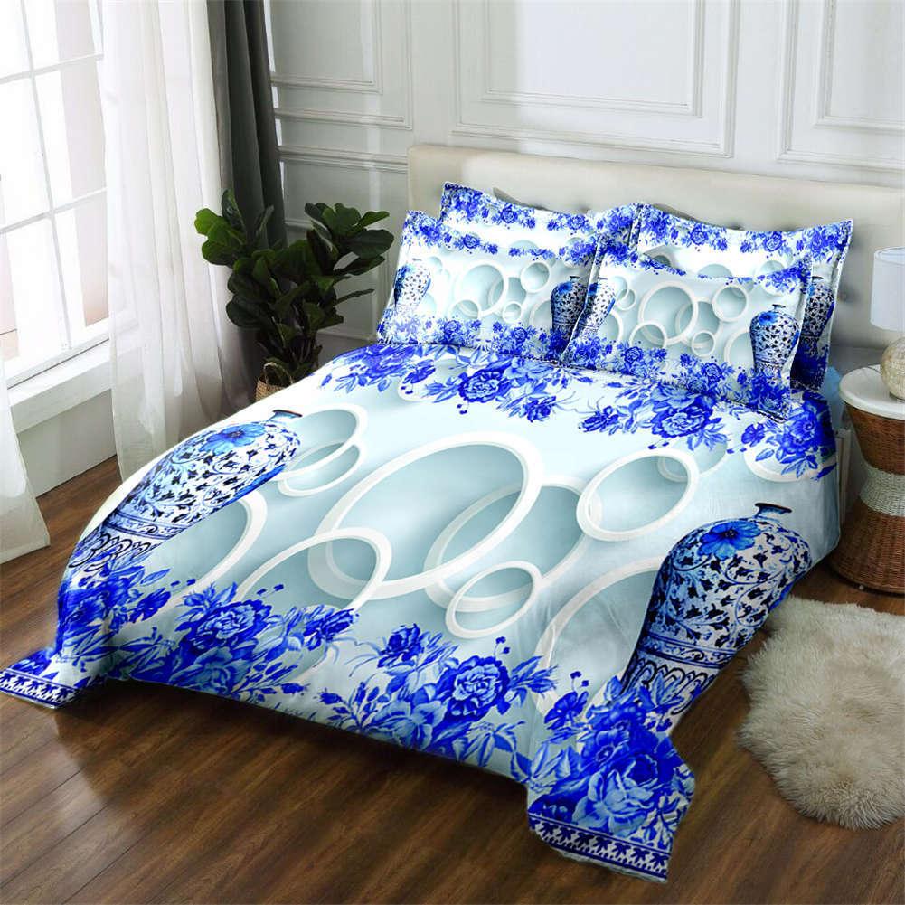 Circumflex Waves 3D Printing Duvet Quilt Doona Covers Pillow Case Bedding Sets