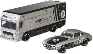 Hot-Wheels-Team-Transport-Mercedes-Benz-300SL-Euro-Hauler-IWC-Racing-Diecast-Car