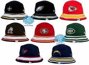 New-NFL-Team-New-Era-Stripe-Mens-Bucket-Cap-Hat
