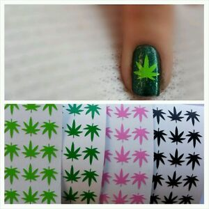 Pot Weed Marijuana Leaf Vinyl Nail Art Decal Stickers 30buy 3