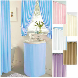 Image Is Loading Plain Dyed CLEARANCE Bathroom Amp Shower Curtains Sink