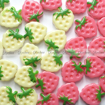 DIY New  Cabochons Crafts Strawberry Cookies Resin Flatback Scrapbooking